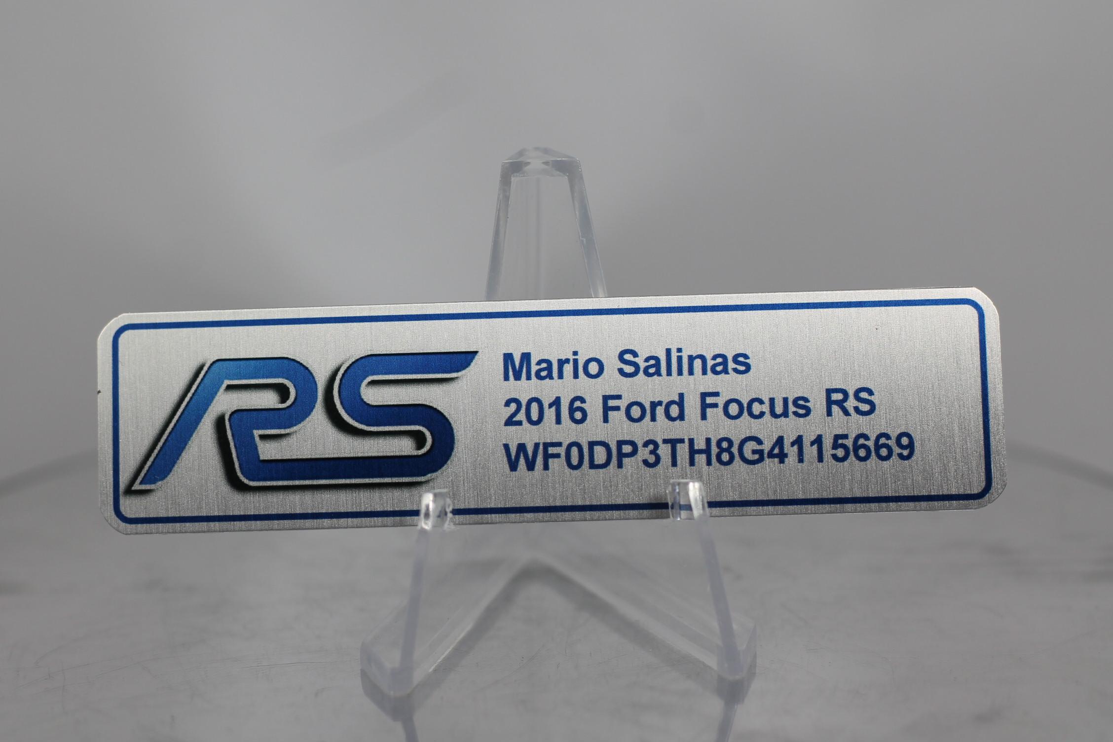 Ford Focus Aluminum Dash Plaques